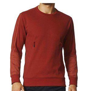 Adidas Men's Cotton LS Pique Crew 3-Stripe Shirt